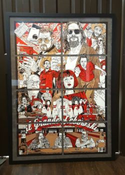 framed movie poster of big lebowski