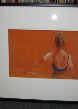 framed painting of ballerina