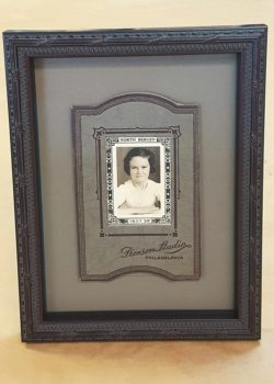 framed portrait of young girl