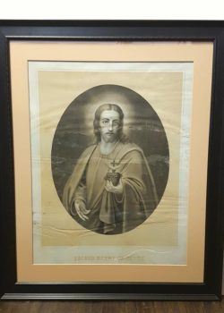 framed drawing of Jesus